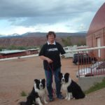 Shirley Wallace with her two dogs Ryder and Whisk