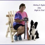 Shirley Wallace and Ryder at Ryder's Elite High In Trial